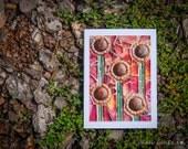Blank Greeting Card - Sunflowers mosaic