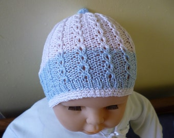Baby Cotton Beanie, Knitted Cotton Hat, Baby Accessories, Hat and Caps, Baby Shower Gift, Christmas Baby Gift, Baby Summer Bonnet.