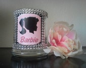 Barbie Rhinestone Glass Holder
