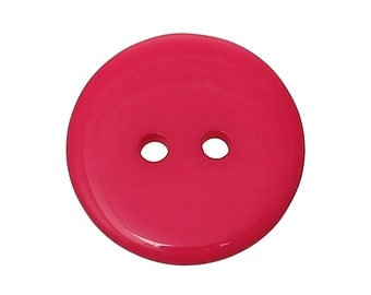 Dark Pink Resin Button - 20mm - 2 Hole - Set of 25 - #BUTTON217