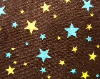 FREE SHIPPING Star Fabric in Brown - Kawaii Cotton Fabric (F12) - Fat Quarter