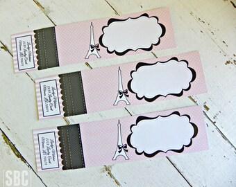 Paris Fashion Passport Address Wraps...Set of 10 Address Wraps.