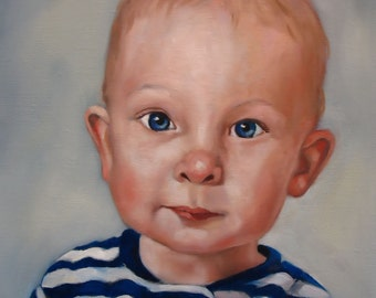 CUSTOM PORTRAIT in oil on canvas from your photo 11 x 14 and larger