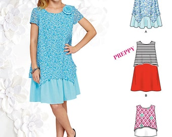 GIRLS CLOTHES PATTERN! Make Dress - Fancy Dress - Top - Shorts / Summer Clothes /  Sizes 8 to 16 or 8 1/2 to 16 1/2