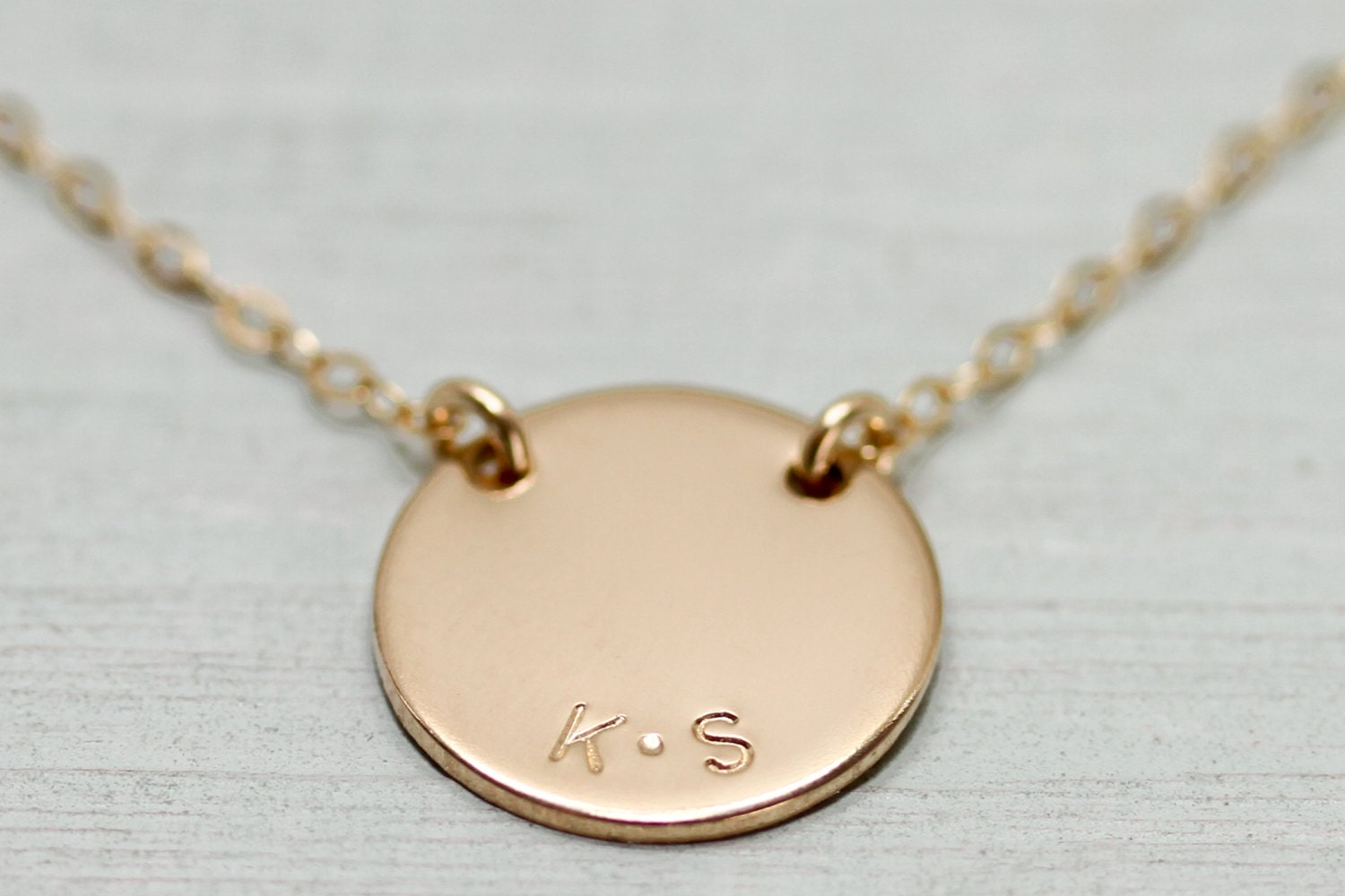 gold disc necklace personalized jewelry gold necklace. Black Bedroom Furniture Sets. Home Design Ideas
