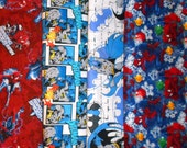 SUPER HEROS #8 fabrics, sold individually,not as a group, sold by the Half Yard, please see body of listing