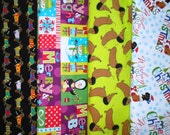 WEINIE DOGS #3 fabrics, sold individually,not as a group, sold by the Half Yard, please see body of listing