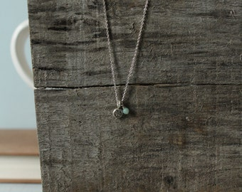 Sterling Silver Stamped Necklace