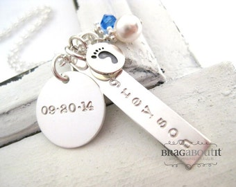 Hand Stamped Jewelry - Personalized Jewelry - Hand Stamped Personalized Jewelry - Brag About It - Baby Steps