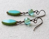Aqua Dangly Earrings