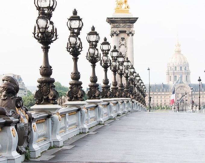 Paris Photography, Crossing the Seine, Pont Alexandre, Paris Architecture, Summer in France, Rebecca Plotnick, Paris Wall Art