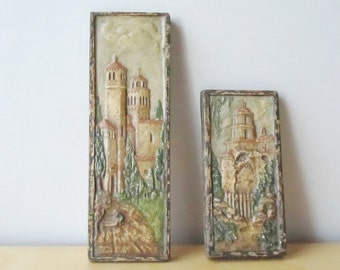antique california art tiles San Bernardino spanish mission arts and crafts era natural scenic calco claycraft style tile
