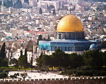 Dome of the Rock, Fine Art Photograph, Holy Land, Middle East, 8x10, Unique Gift, Home Decor, Wall Hanging, Wall Decor, Jerusalem, Religious