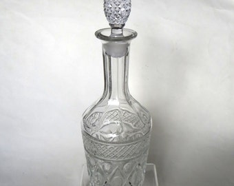 Imperial Glass Cape Cod Crystal Liquor Bottle or Decanter