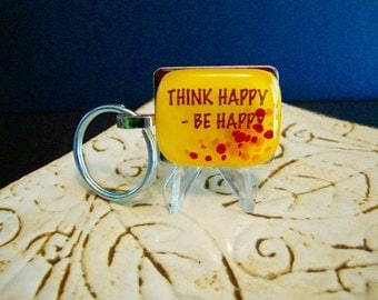 Design4Soul's Be Happy Key Ring