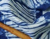 Blue Shibori Dish Towel, Shibori Kitchen Towel, Shibori Tea Towel, Blue Wedding Gift