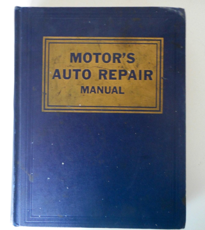 Motors auto repair manual 1961 lincoln