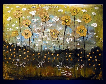 large abstract art acrylic painting wall art wall decor wall hanging canvas original painting palette knife flower texture floral 22 x 28