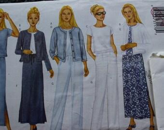 Butterick 6474 Misses/Misses Petite Jacket, Top, Dress , Skirt and Pants in sizes 12-14-16 (uncut)