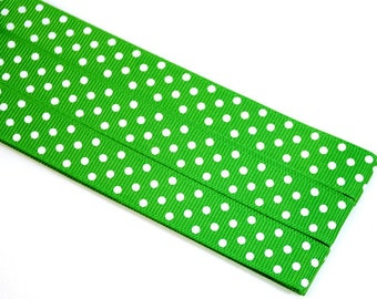 Pattern Magnet - Chart Keeper Magnetic Bookmark - Knitting Crochet Supplies Tools - Set of 3 - Polka Dots (kelly green)