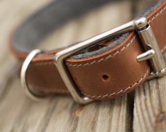 Dog Leather Collar  | STURDY (Organic Leather)