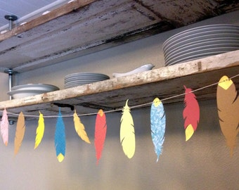 Charming Feather Banner for Home Decor, Baby Nursery, Baby Shower, or Birthday Party