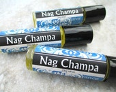 Nag Champa Perfume Oil, concentrated, floral, plumera musk and spice fragrance, Vegan formula, rollerball