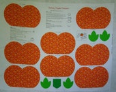 Calico Pumpkin Centerpiece Panel