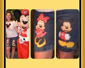Custom Disney ADULT Minnie, Mickey n Friends w 2 LARGE  Hand Painted characters on jeans you supply