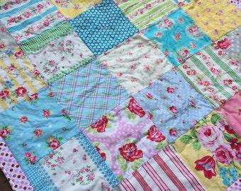 Infant Baby Girl Toddler Quilt Blanket shower gift nursery decor