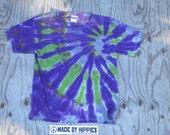 Iris Meadow Spiral Tie Dye T-Shirt (Gildan Youth Size M) (One of a Kind)