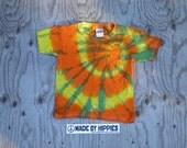 Dizzy Spiral Tie Dye T-Shirt (Gildan Youth Size XS) (One of a Kind)