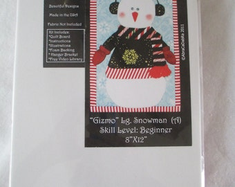 Gizmo Snowman Artsi2 Quilt Boards - No Sew - DIY - Wallhanging