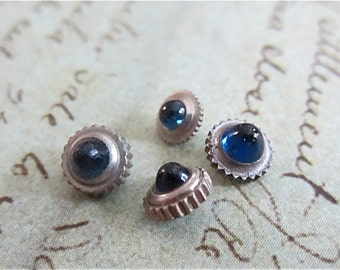 Vintage Sapphire  Watch parts crowns - Steampunk - Scrapbooking M98