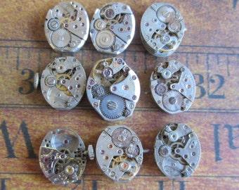 Steampunk watch parts - Vintage Antique Watch movements Steampunk - Scrapbooking r93