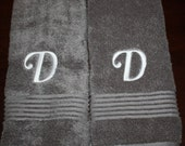 Initial Embroidered Hand Towel Set- Wedding Gift