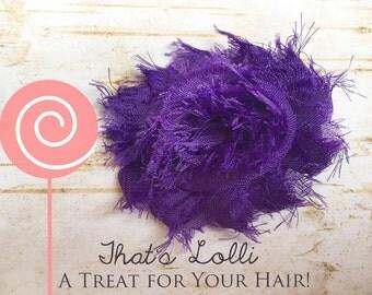 Purple Shabby Chic Flower, birthday, Christmas, Easter, Thanksgiving, cheer, dance, wedding, flower girl, bridal shower, baby shower, prom