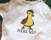 Make Way Baby Bodysuit (sizes newborn to 24 months)