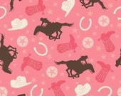 WINTER SALE - Rodeo Rider - Main in Pink - C4535-Pink Girl - 1 Yard - by Samantha Walker for Riley Blake Designs