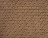 Cappuccino Minky Dot, 1 HALF yard, Shannon Fabrics