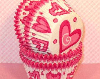Sweetheart Cupcake Liners  (32)  Valentines Cupcake Liners, Valentines Baking Cups, Valentines Cupcake Wrappers, Cupcake Liners, Baking Cups