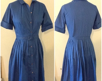 Vintage blue Handmade Dress