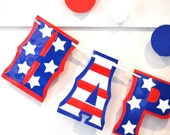 Reserved for mpgp1220 - HAPPY BIRTHDAY Banner - Stars and Stripes Red White and Blue