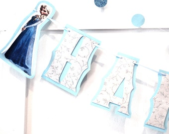 Frozen Birthday Party Banner, Frozen Birthday Banner, HAPPY BIRTHDAY Banner, Frozen Party Banner, Frozen Party Supplies, Frozen Decor
