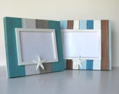 Starfish Photo Frames /  Whitewashed /  Beach Cottage Decor / Father's Day / Wedding Present