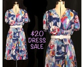 SALE - Vintage 80s Picasso's Garden Dress