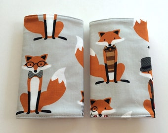 Drool Pads, Suck Pads, Teething Pads, Ergo, Tula, Beco, Boba, Mei Tai, Waterproof, Absorbent Cotton, Carrier Straps, Fox, Foxes, Foxy