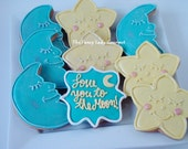 Moon and stars cookies 1 dozen