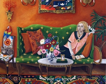 Fine Art Print of Still Life Painting-Consider The Flowers- by Catherine Nolin