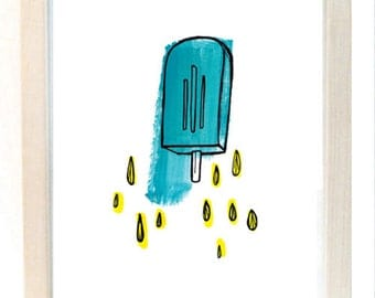 Turquoise Popsicle Giclee Print